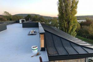 Arbeiten über den Dächern